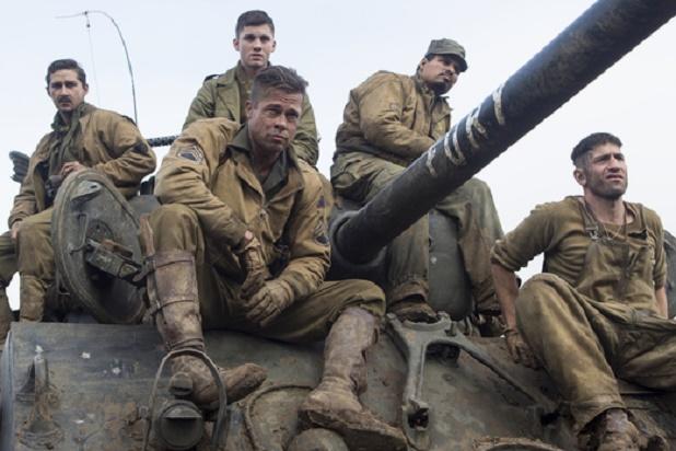 Brad Pitt;Shia LaBeouf;Logan Lerman;Michael Pena;Jon Bernthal