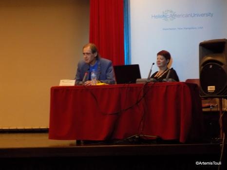 Ο Δημήτρης Παναγιωτάτος στην ομιλία για τις ελληνικές ταινίες του φανταστικού