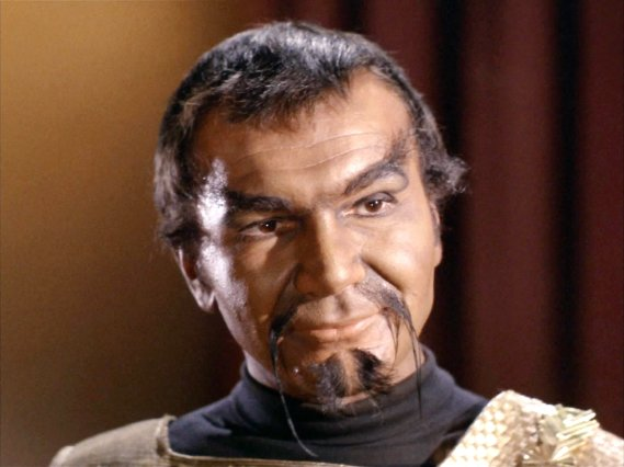 """LOS ANGELES - MARCH 23: Seen here, John Colicos as Kor (a Klingon) in the STAR TREK episode, """"Errand of Mercy."""" Original air date, March 23, 1967, season 1, episode 26. Image is a screen grab. (Photo by CBS via Getty Images)"""