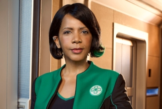 """THE ORVILLE: Penny Johnson Jerald as Dr. Claire Finn in the new space adventure series THE ORVILLE from the creator of """"Family Guy."""" The first part of the special two-part series premiere of THE ORVILLE will air Sunday, Sept. 10 (8:00-9:00 PM ET/PT), immediately following the NFL ON FOX Doubleheader. ©2017 Fox Broadcasting Co. Cr: Noah Schutz/FOX"""
