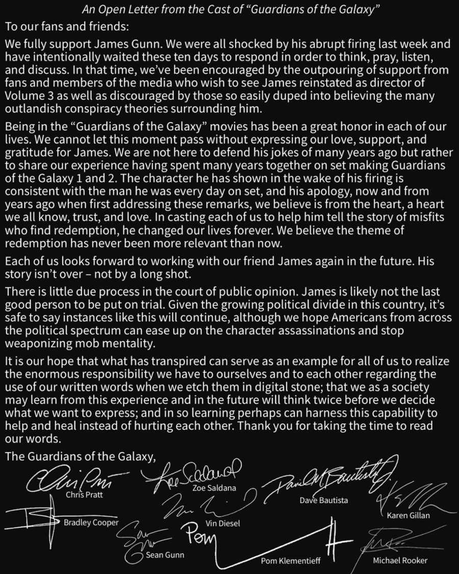 Guardians-of-the-Galaxy-cast-open-letter-for-James-Gunn